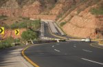 Motorway through Salt Range Pakistan
