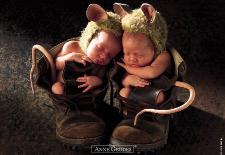 Children by Anne Geddes - animal, children, anne geddes, shoes, photo, cute, baby
