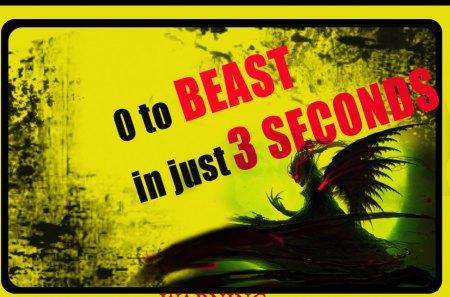 beast - text, cg, fantasy, abstract