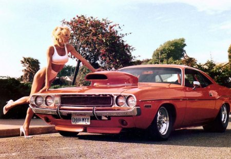 muscle car babe - girls and cars & cars background wallpapers on