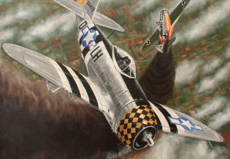P-47 Republic Thunderbolt  - combat, thunderbolt, fighter, p-47