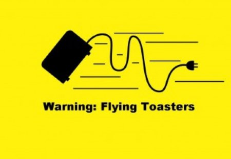 Warning Flying Toasters Funny Entertainment Background