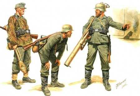 GERMAN SOLDIERS - battle, german, soldiers, ww2