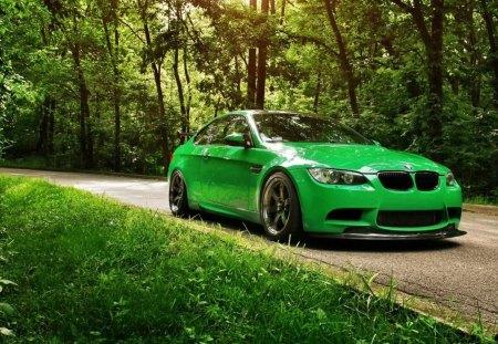 Green Car Bmw Cars Background Wallpapers On Desktop