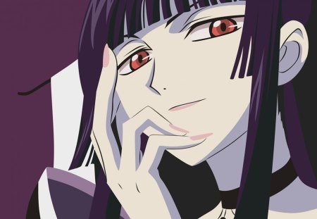xxxHolic - Pretty, Angry, Anime, yuuko, Red Eyes, Manga, Beautiful, Dark, Gorgeous, Sweet, Mad, Awesome, Long Hair, xxxholic, Mean, clamp, Emotional, holic, tsubasa chronicle, Lovely, Amazing, ichinara, Cute, Creepy, crazy, Purple Hair, Scary, Anime Girl, Gothic