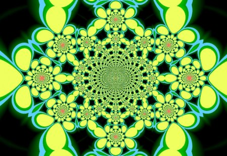 Bubble Kaleidoscope 6 - bubble, kaleidoscope, fractal, flower