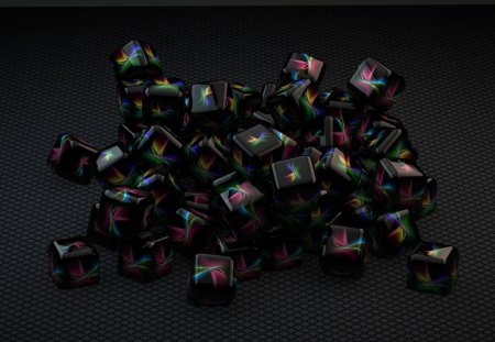 Cubee - abstract, cube, wallpaper, c4d