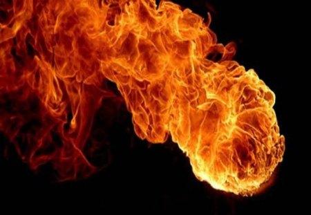 Fireball - fire, dark, meteor, sky