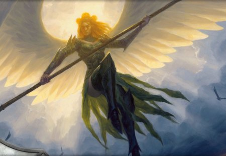 Angel - wings, sword, holy, angel