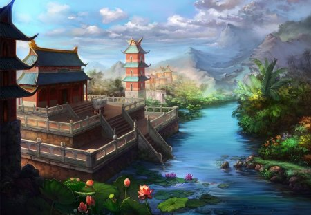 Jade Dynasty - cg, art, jade, dynasty