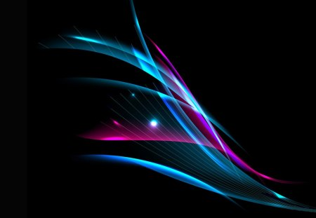 Bright and Shiny - sparks, pink, blue, black, lights, streaks, light, magenta, sparkle, cyan