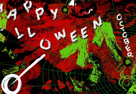 Happy October Halloween - autumn, october, halloween, graphics, abstract