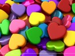 Multi-colored Hearts