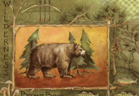 NORTHWOODS SPIRIT 1 - pine tree, bear, wisconsin, northwoods