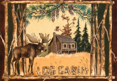 NORTHWOODS SPIRIT 3 - log cabin, moose, wisconsin, northwoods