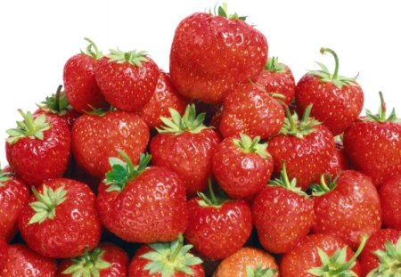 Luscious Red Strawberries - strawberries, fruit, red, nature