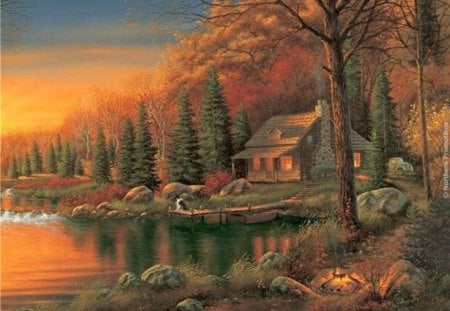 Kim Norlien - cottage, fine art, artist, landscape, painted