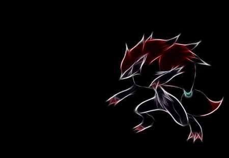 Abstract  Zoroark - illusion fox, abstract, pokemon, zoarark