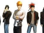 Toushirou, Uryuu, Ichigo, Renji, Byakuya