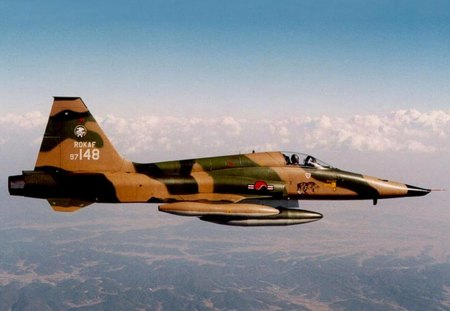 Northrop F5 A Freedom Fighter ( South Korea ). - jet fighter, northrop, south korea, freedom fighter, f5 a, rokaf
