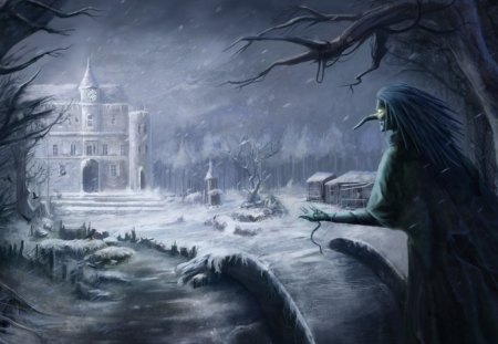 One of Many Winters - art, storybook, digital art, wallpaper