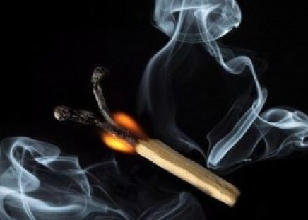 creative matchstick - matchstick, collage, flame, smoke, creative