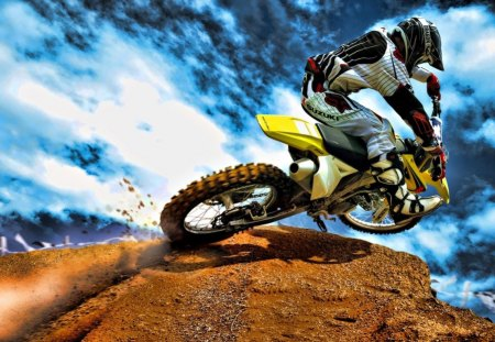 Motocross - extreme, hd, motocross, jump