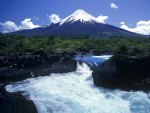 waterfalls in the petrohue river in chile
