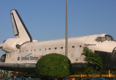 Endeavour - endeavour, shuttle, california, ingelwood, space