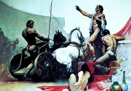 Fantasy - chariot, fantasy, f, warrior