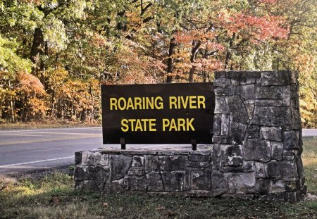 Roaring River - fall, trout, river, campground
