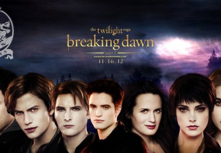 ♥♥ THE CULLEN FAMILY ♥♥ - rosila, alice, breaking dawn, twilight saga, carlisle, esme, jasper, entertainment, cullens, edward, movies, emmett