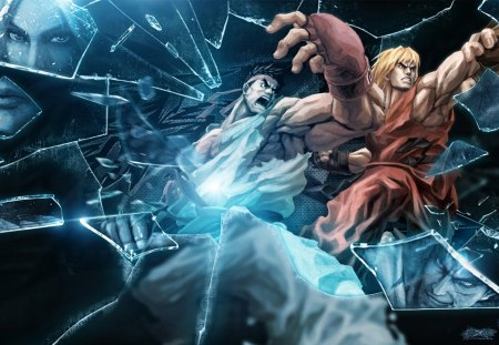 Ryu N Ken Street Fighter Video Games Background Wallpapers On