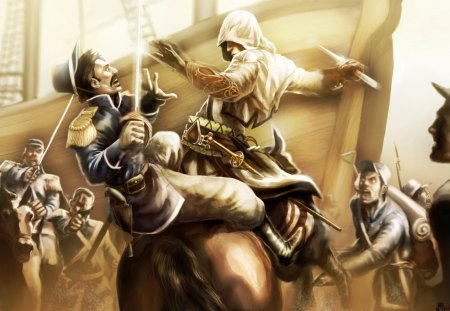 assassin's creed - hd, ubisoft, game, assassin, epic, battle, assassins creed iii, 1080p, connor