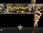 New Orleans Saints cheerleader