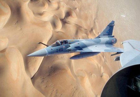 Mirage 2000 Over Desert Military Aircraft Background