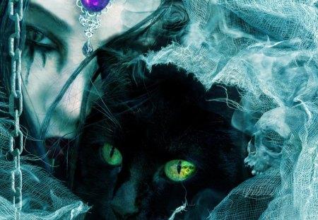 Vampire Cat Woman Cats Animals Background Wallpapers On Desktop Nexus Image 1209968