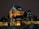 Chateau Frontenac is aglow