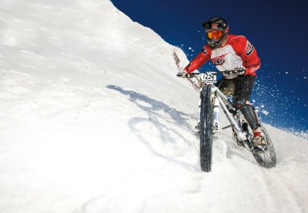 Snow mtb - mountain, snow, mtb, downhill