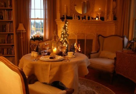 O cina romantica - frig, sarbatoare, craciun, iarna