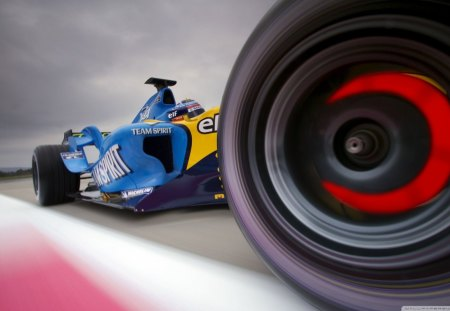 F1 LuncheD - f1, race, shadow, drag, run, speed, 3d, hot, blue