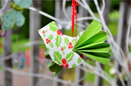 Christmas Dove♥ - red, christmas, decoration, beautifully, peace, elegant, green, love, forever, dove