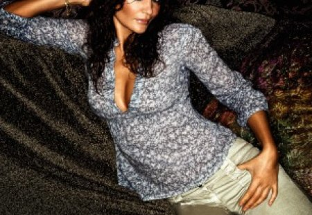 Helena Christensen for Vero Moda - elagant, sensual, pretty, chic, helena christensen, green eyes, beautiful, woman, photography, nice, supermodel, figure, famous, beauty, face, star, vero moda, celebrity, lovely, tempting, sexy, lips, 90s, brunette, classy, femininity, body, eyes, fashion