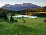 meadow lake in the alps