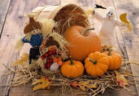 *** HAPPY HALLOWEEN *** - dynie, strachy, halloween, jesien
