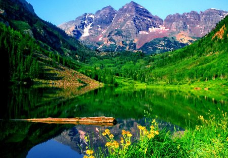 green mountain valley mountains amp nature background
