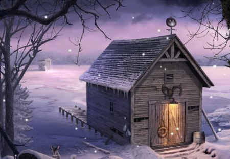 Boat House - boat house, kid safe, country, winter