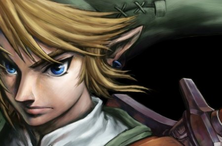 Link Close up - legend of zelda, video game, face, link