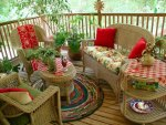 great wicker on a pretty porch
