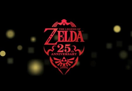Zelda 25th Anniversary - link, zelda, loftwing, 25th anniversary, triforce, sparkles